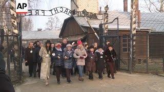 Auschwitz survivors and families attend anniversary ceremony