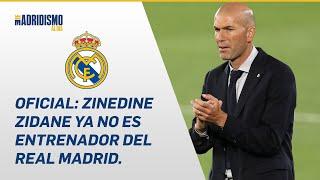 SUSCRÍBETE: http://bit.ly/madridismoaldiatv Ya es OFICIAL, ZIDANE ha dejado de ser entrenador del REAL MADRID. Mediante un comunicado el club lo ha ...