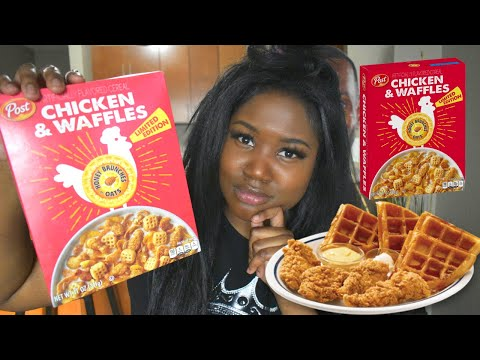 HONEY BUNCHES OF OATS CHICKEN AND WAFFLES CEREAL review!!!