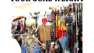 wow! amazing! skeleton dancing in a shopping mall!