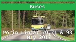 Bus videos: Porin Linjat 70, 71 & 98