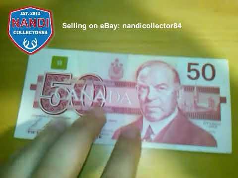 CANADA $50 dollar banknote - 1988