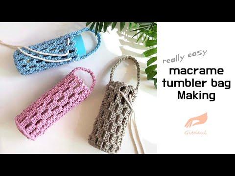 [gitdeul macrame] 마크라메 텀블러백, 보틀가방, 미니 가방 만들기/macrame tumbler bag Making