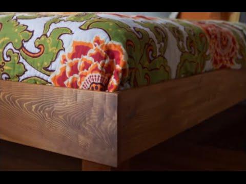 Двуспальная кровать своими руками. Из дерева. Как сделать