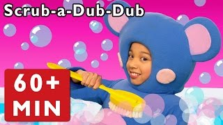 ScrubaDubDub + More | Real Mouse in the Bath | Mother Goose Club Phonics Songs