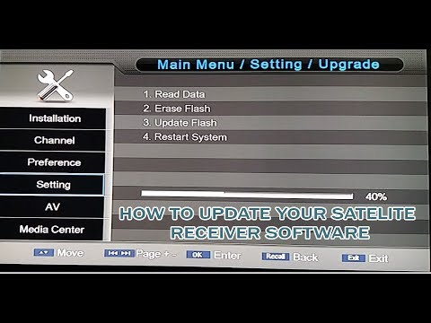 How To Update Sony New Software in Your  Satellite Receiver
