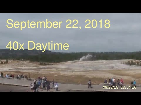 September 22, 2018 Upper Geyser Basin Daytime Streaming Camera Captures