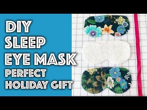 DIY Sleep Eye Mask Perfect Holiday Gift! | Sew Anastasia