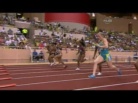 Lolo Jones wins in Monaco - from Universal Sports