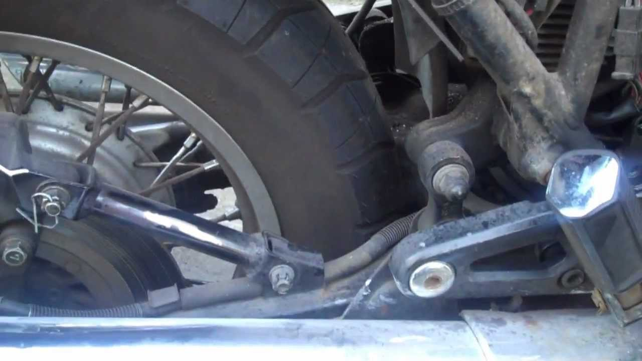 How to replace a rear monoshock on a motorcycle