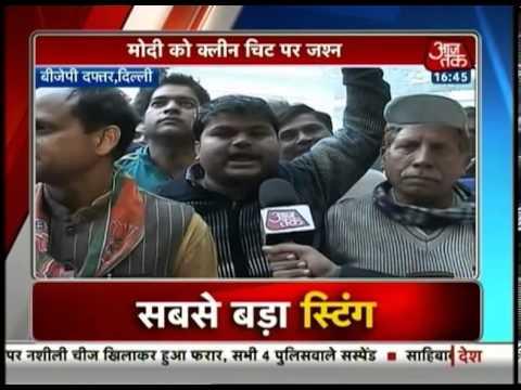 BJP members celebrate Modi's victory