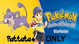 Can I Beat Pokemon Blue with only a Rattata (No items) Youngster Joey Challenge