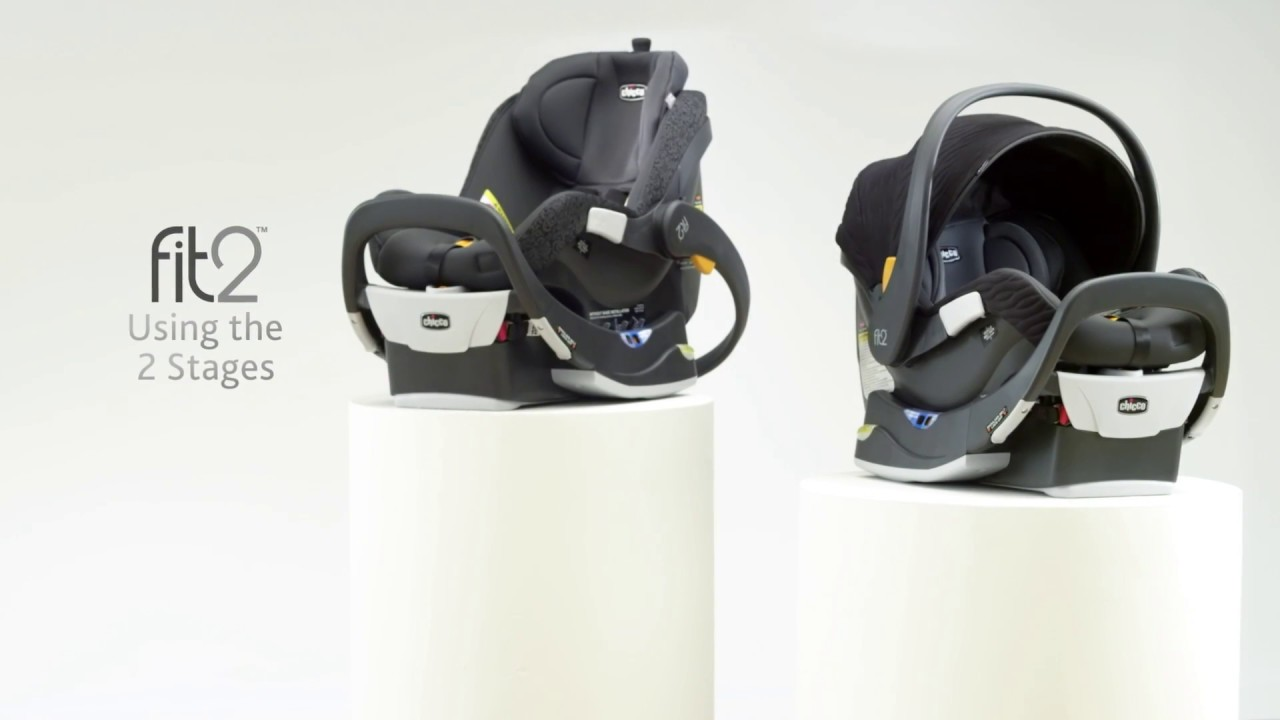 Chicco Fit2 Car Seat - Using the 2 stages - YouTube