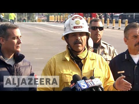 California wildfires bear down on Los Angeles rich suburbs