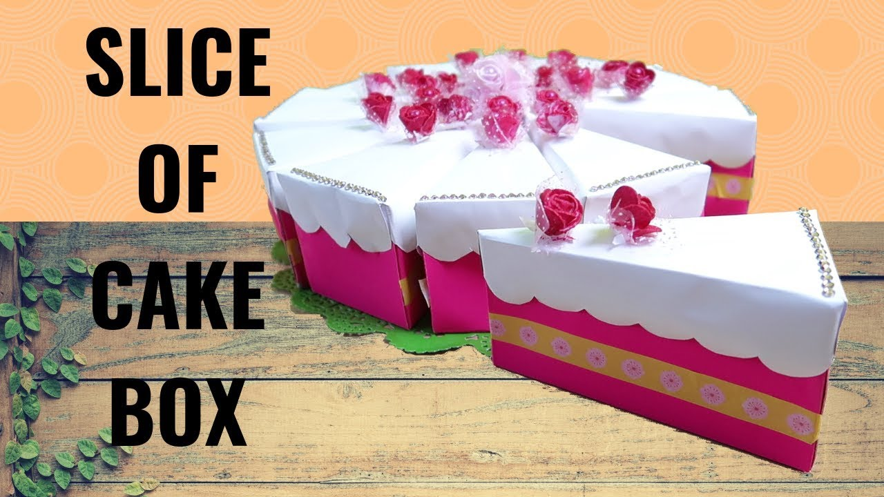 Molto Come fare la torta bomboniera - How to make a Slice of cake box  BL79