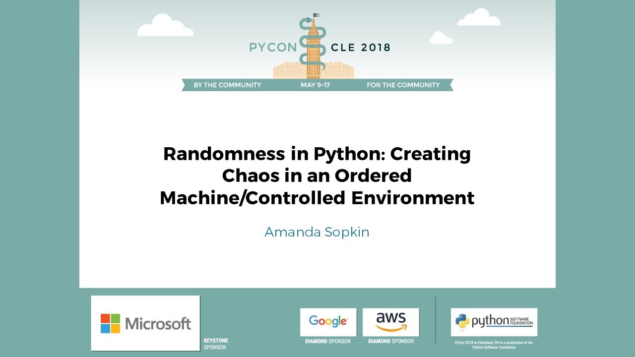 Image from Randomness in Python: Creating Chaos in an Ordered Machine/Controlled Environment