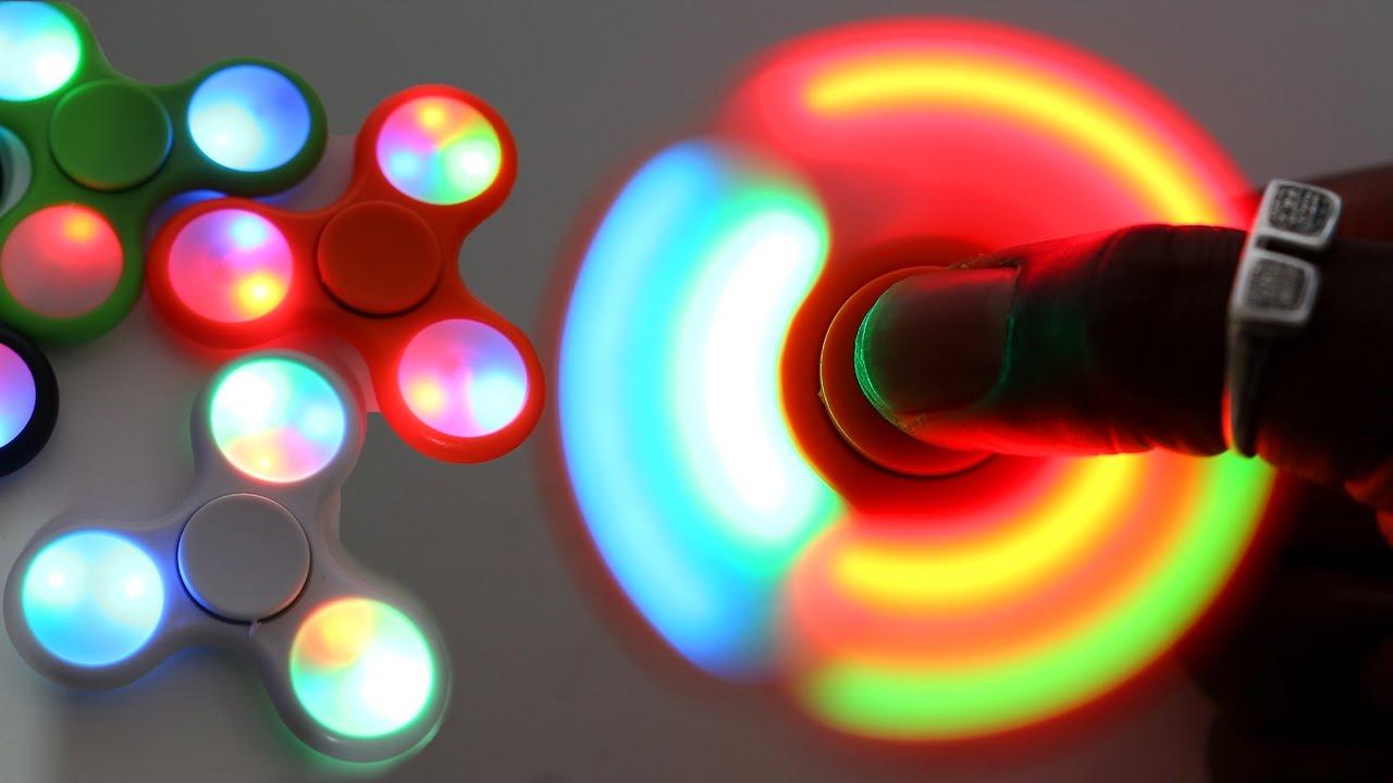 Light Up Fidget Spinner Glow In The Dark Magic Fidget Spinner Toys