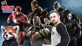 РОККИ и ПАПА РОБ играют в INJUSTICE 2! Часть 1: файтинг с супергероями! 16+