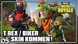 Fortnite Battle Royale English - T REX & BIKER SKIN coming soon (Fortnite Gameplay English)
