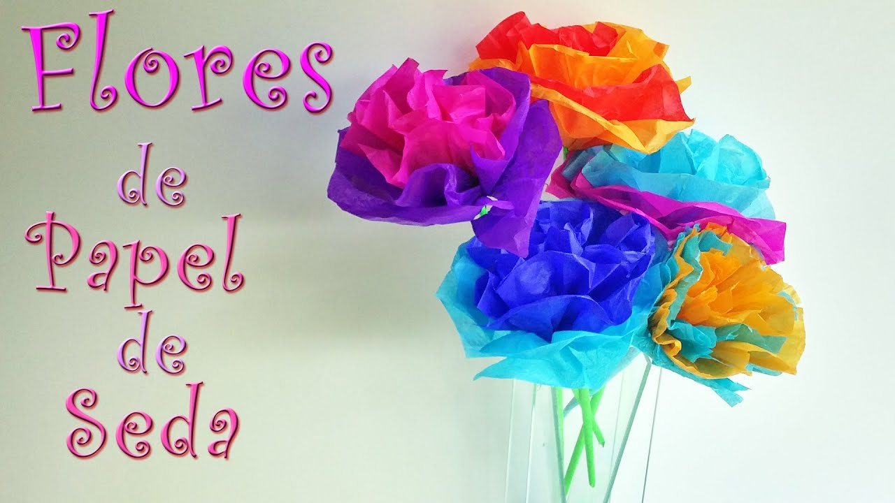 Manualidades flores de papel china manualidades para - Youtube manualidades de papel ...