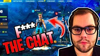DAKOTAZ GETS ANGRY AT CHAT AND SWEARS ON STREAM (Fortnite Battle Royale)