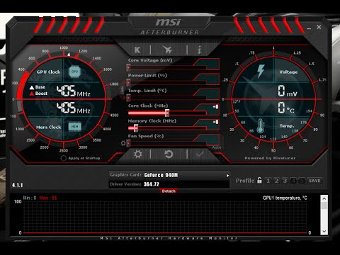 How To Overclock Nvidia Geforce 940M Gpu with MSI Afterburner n Overview of  MSI Afterburner