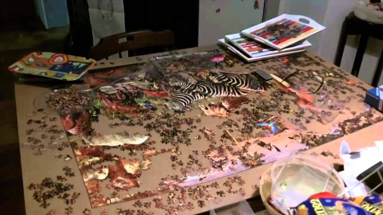 3000 piece ravensburger puzzle african animals time lapse youtube. Black Bedroom Furniture Sets. Home Design Ideas
