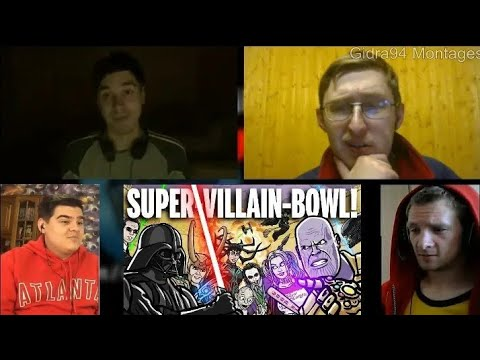 SUPER-VILLAIN-BOWL! - TOON SANDWICH | RUSSIAN REACTION MASHUP