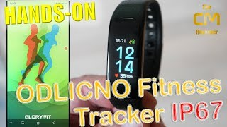 ODLICNO Fitness Tracker Test: Color TFT Display IP67 - Hands-on (Deu...