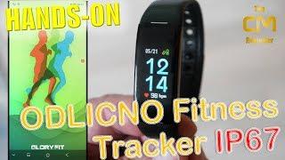 ODLICNO Fitness Tracker Test: Color TFT Display IP67 - Hands-on (Deu...