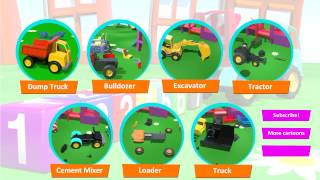 Kid's Cartoons: 3d Construction Vehicles, Machines & BIG TRUCKS [video xe tải lớn/큰 트럭] ABC 农行