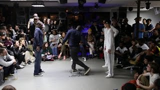 FRANQEY & IRON MIKE VS AREJAY & EMJAY 1/8 FINALES POPPING : JUSTE DEBOUT PARIS 2016