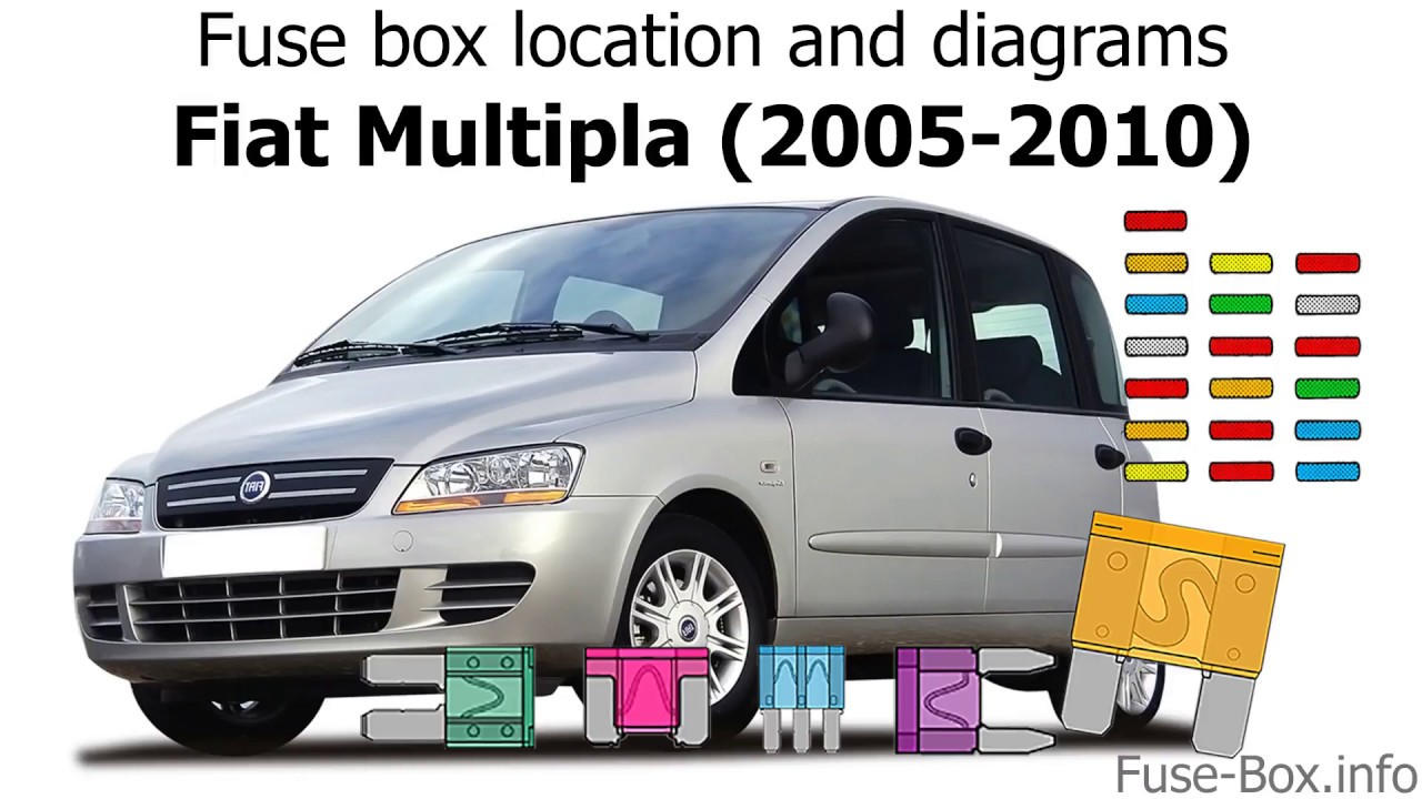 fuse box location and diagrams fiat multipla 2005 2010. Black Bedroom Furniture Sets. Home Design Ideas