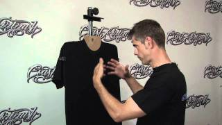 T Shirt Airbrushing: Prepping a Black T-Shirt w/ Kent Lind
