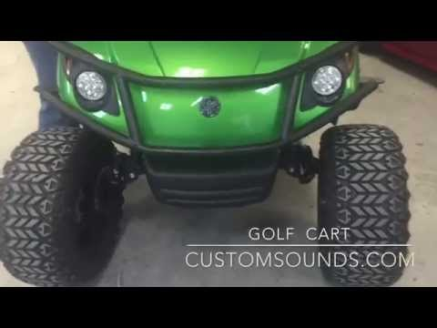 Golf Cart with Wet Sounds Audio