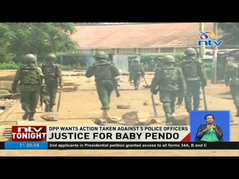 Justice for baby Pendo as DPP orders action against five police officers