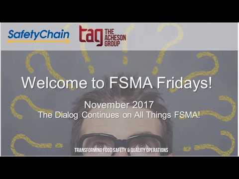 FSMA Fridays November 2017: FDA Guidance on Supply Chain Controls