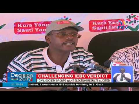 Civil society groups want election results audited