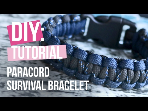 DIY tutorial – Survival Armband Paracord – Selbst Schmuck machen