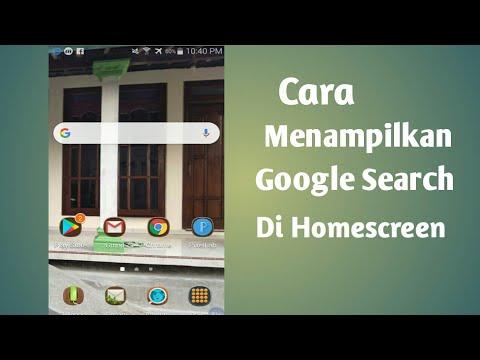 Cara Memunculkan Google Penelusuran Yang Hilang Di HP Android Google search atau google penelusuran .
