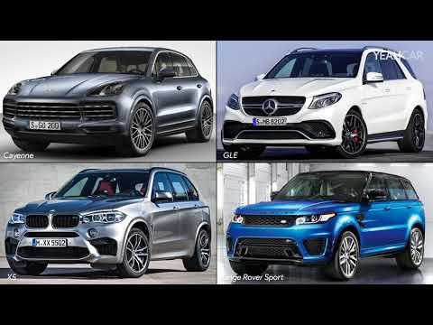 2018 Porsche Cayenne Vs Range Rover Sport Vs BMW X5 Vs Mercedes GLE ► Side By Side Comparison