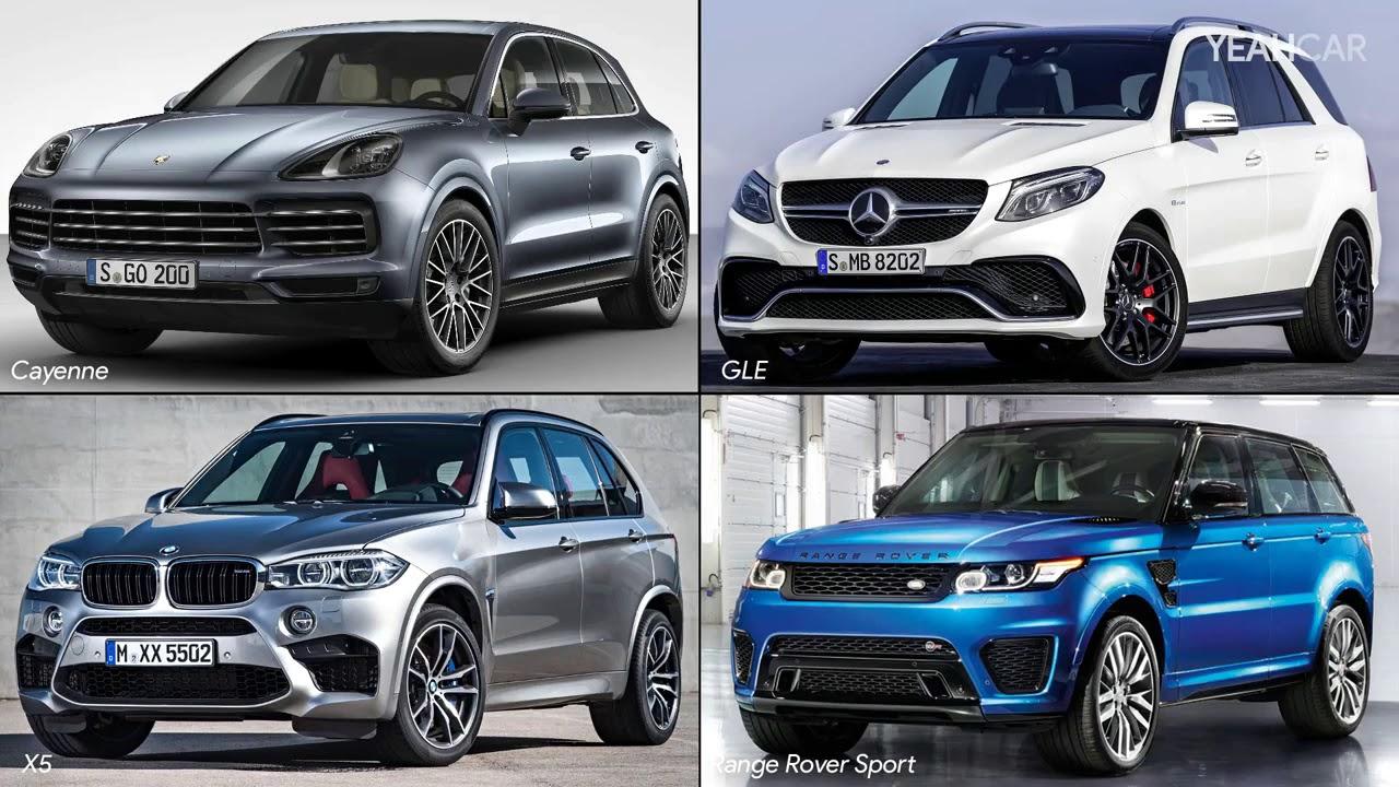 2018 Porsche Cayenne Vs Range Rover Sport Bmw X5 Mercedes Gle Side By Comparison