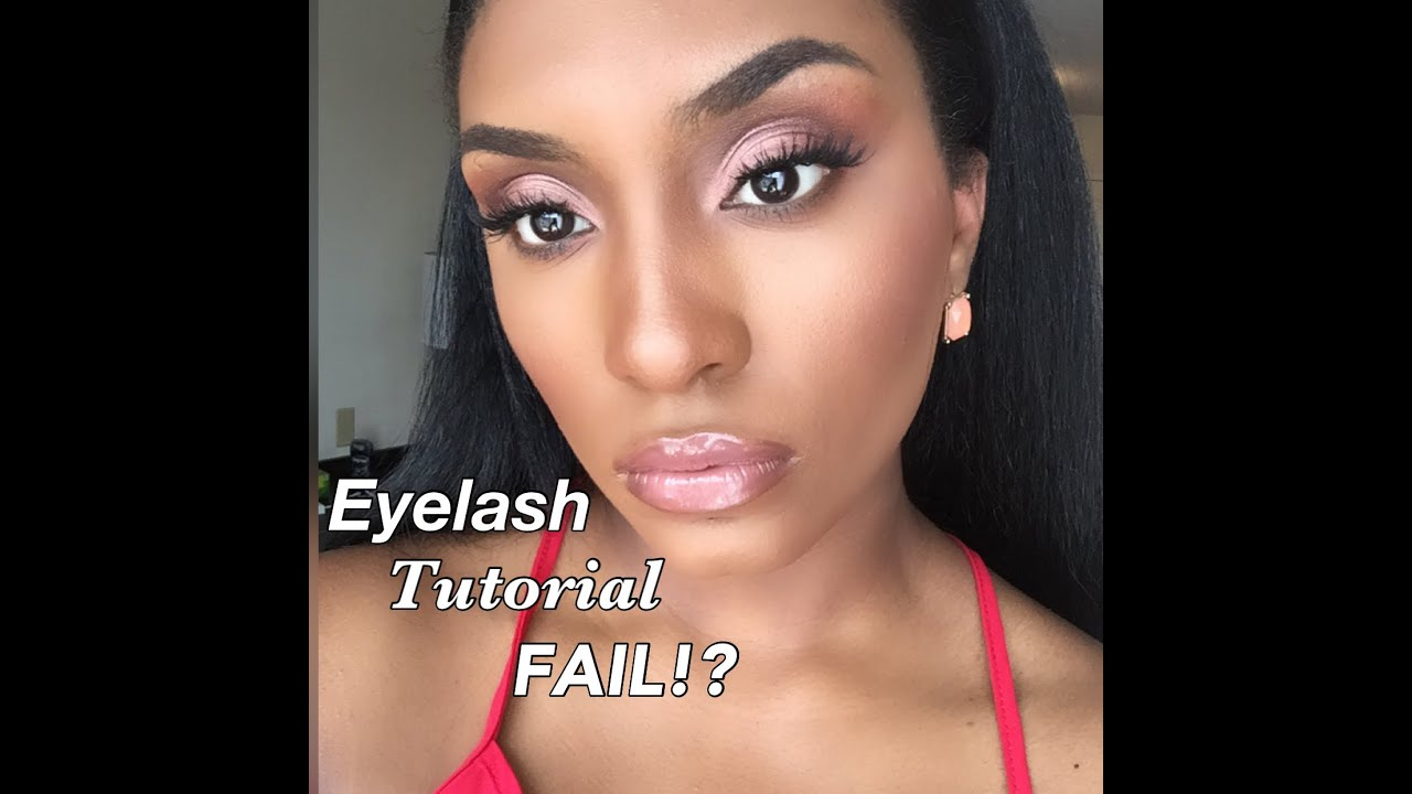 False Eyelashes Fail