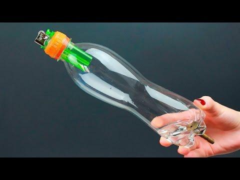 видео: Необычная идея из бутылки и зажигалки/an unusual diy project idea of reusing a bottle and a lighter