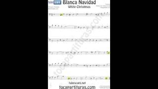 Blanca Navidad VIDEO Partitura en Clave de Fa para Chelo Trombón Fagot Bombardino Tuba... Villancico