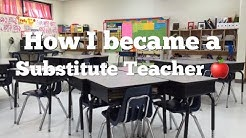 How to become a Substitute Teacher👩🏻🏫🍎| How I became a Substitute Teacher!