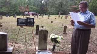 Calvin Lee Mooney Marker Dedication - Mt Calvary Cemetery, Shelby County Alabama