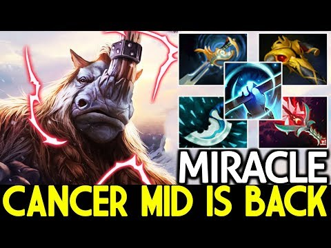MIRACLE [Magnus] Cancer Mid is Back Insane Right Click Boss 7.24 Dota 2