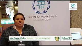 Ms Peace Mabe on universal access to energy at the 138th Assembly of the IPU