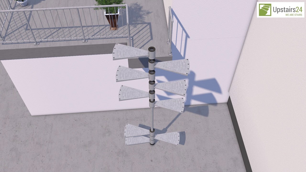 Escalier Exterieur En Kit Corona Www Upstairs24 Fr Youtube